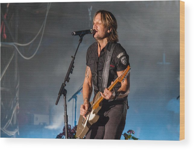 Keith Urban Wood Print featuring the photograph Keith Urban 3 by Mike Burgquist