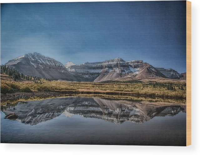 Drama Wood Print featuring the photograph Kings Peak And The Pond Sinister by Mitch Johanson