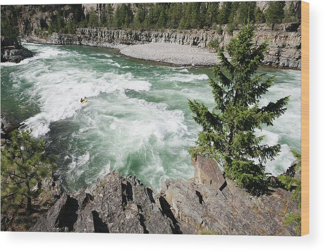 Kootenai River Wood Print featuring the photograph Kootenai Falls by Peter Falkner/science Photo Library
