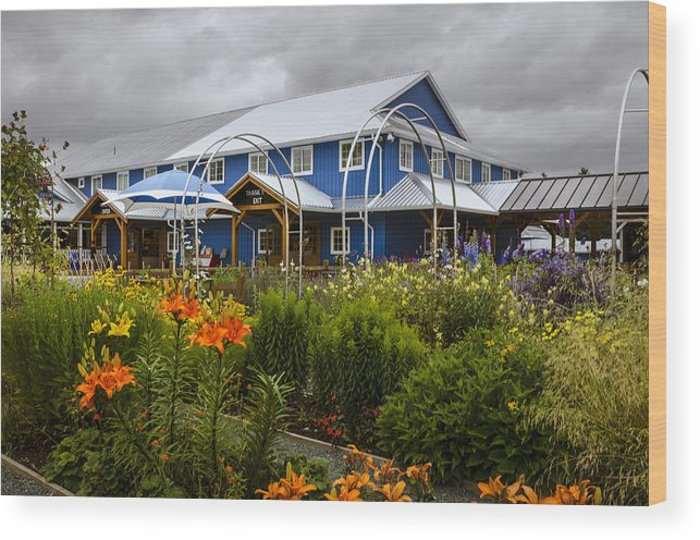 Flowers Wood Print featuring the photograph Krause Berry Farm by Irene Theriau