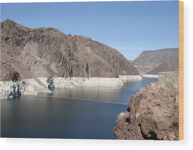 Hoover Dam Wood Print featuring the photograph Lake Mead At Hoover Dam 2 by Kathy Hutchins