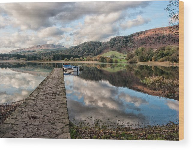 Lake Of Menteith Wood Print featuring the photograph Lake Of Menteith by Nigel R Bell