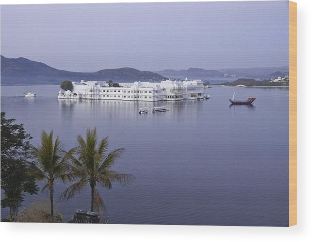 India Wood Print featuring the photograph Lake Palace by Michele Burgess
