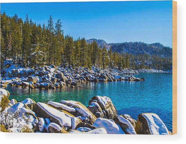 Landscape Wood Print featuring the photograph Lake Tahoe Winter by Brandon McClintock