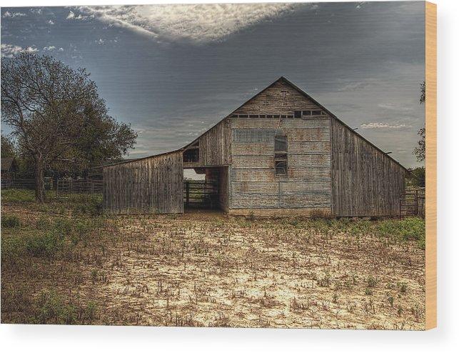Barn Wood Print featuring the photograph Lake Worth Barn by Jonathan Davison