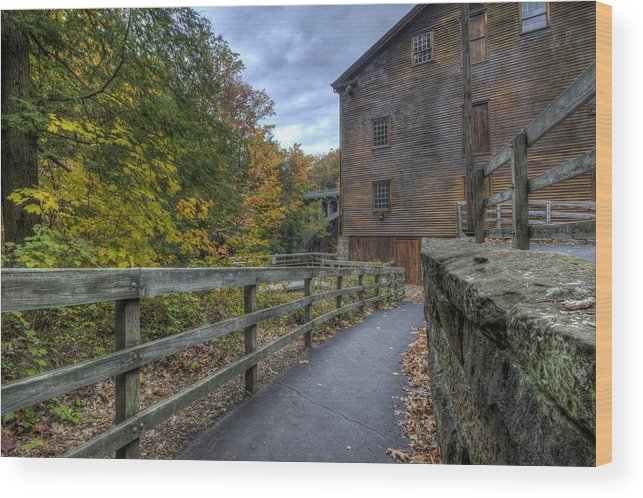 Mill Wood Print featuring the photograph Lanterman's Mill In Fall by David Dufresne