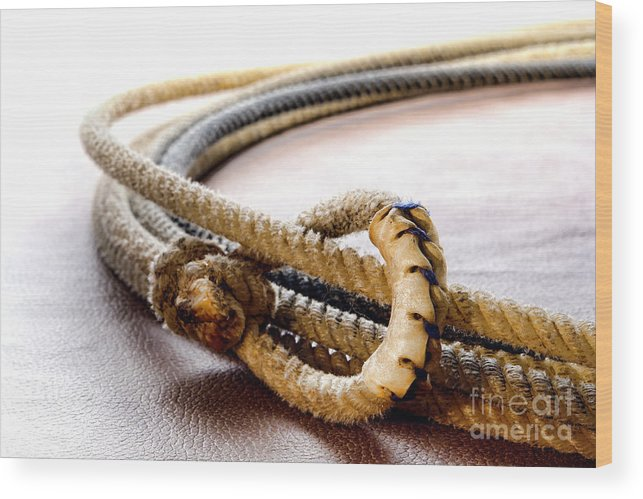 Western Wood Print featuring the photograph Lasso Hondo Loop by Olivier Le Queinec