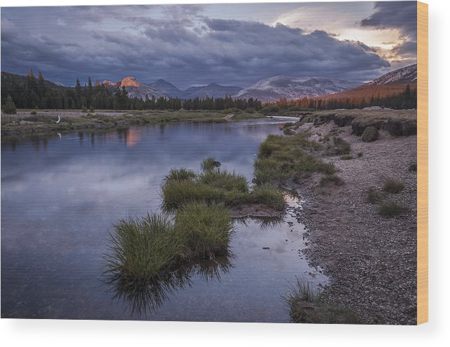 River Wood Print featuring the photograph Last Light On Lembert Dome by Cat Connor