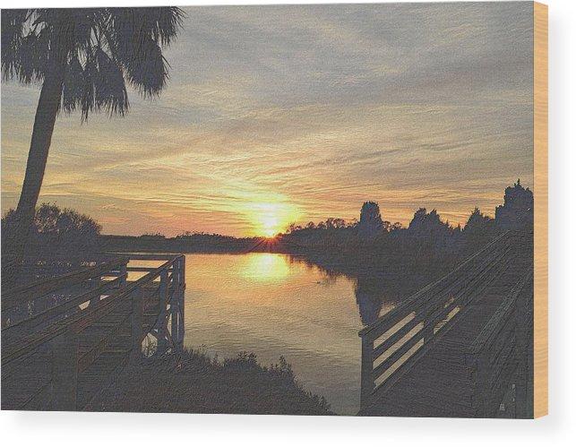 Florida Wood Print featuring the digital art Last Sunset 2012 2 by Richard Zentner