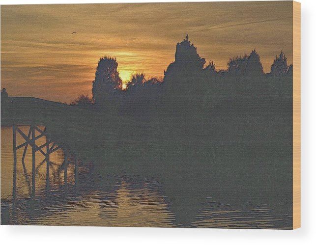 Florida Wood Print featuring the digital art Last Sunset 2012 5 by Richard Zentner