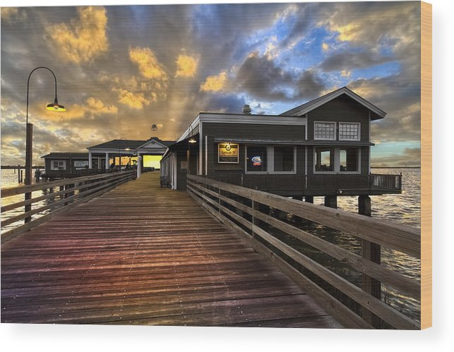 Clouds Wood Print featuring the photograph Latitude 31 by Debra and Dave Vanderlaan