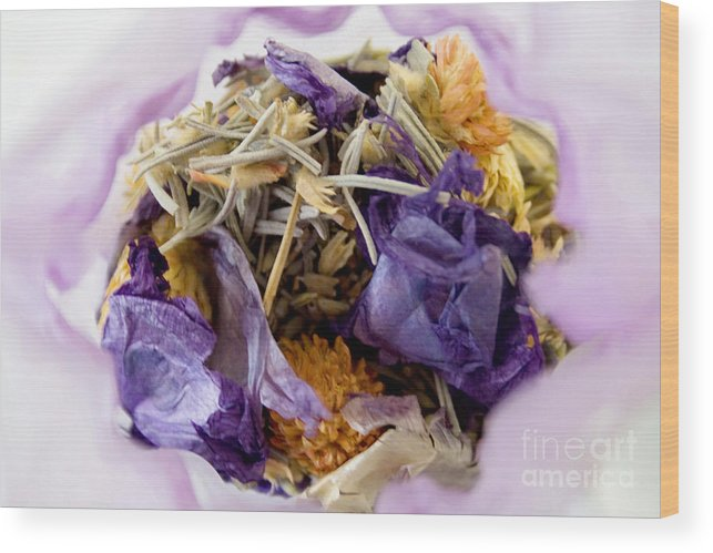Country Wood Print featuring the photograph Lavender Potpourri by Robin Lynne Schwind