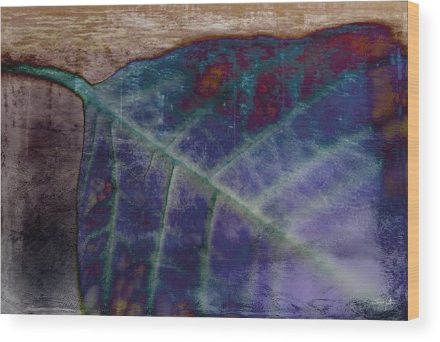 Leaf Wood Print featuring the photograph Leaf Abstract by Scott Pellegrin