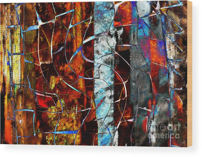 Abstract Wood Print featuring the digital art Legacy by Nola Lee Kelsey