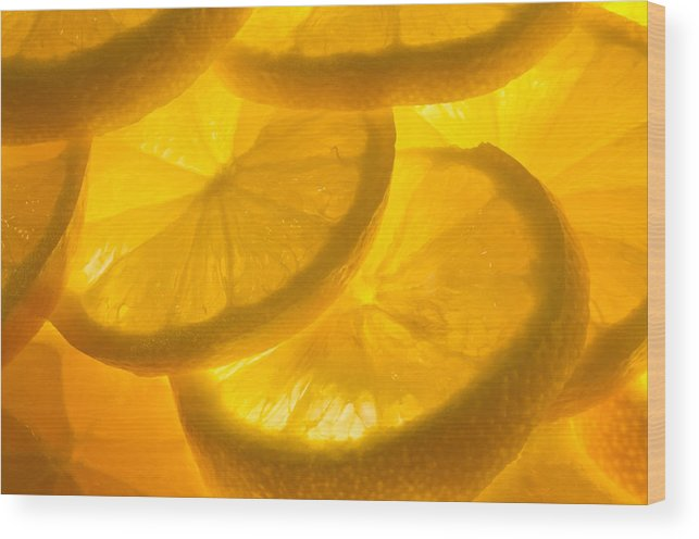 Lemon Wood Print featuring the photograph Lemons by Linda Mcfarland