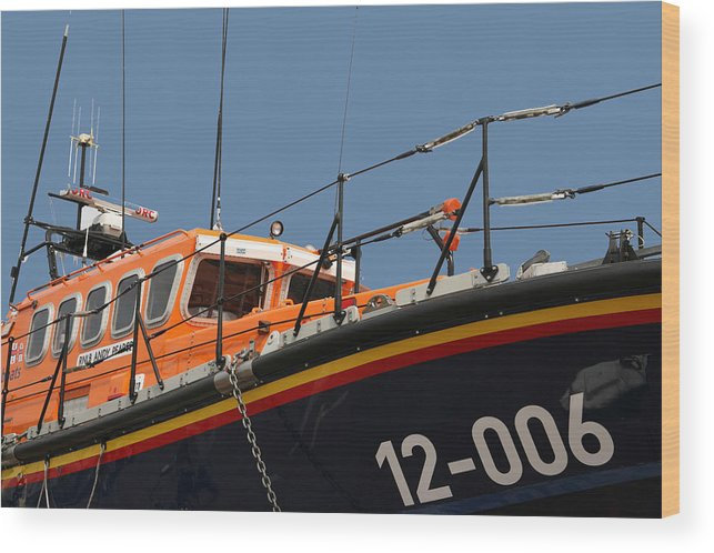 Life Wood Print featuring the photograph Life Boat by Christopher Rowlands