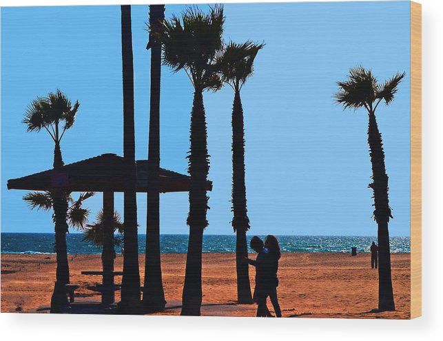 Water Wood Print featuring the photograph Life's A Beach by Camille Lopez