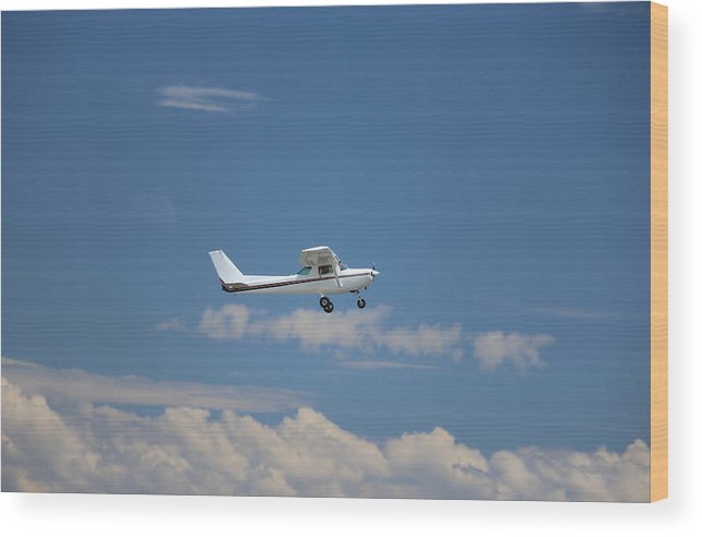 Outdoor Wood Print featuring the photograph Light Aircraft by Paul Fell