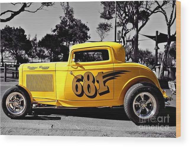 Coupe Wood Print featuring the photograph Lil' Deuce Coupe by Howard Ferrier