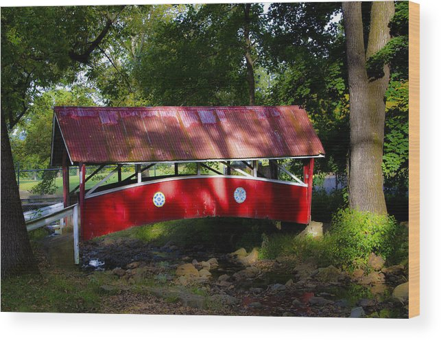 Covered Wood Print featuring the photograph Little Covered Bridge by Bill Cannon