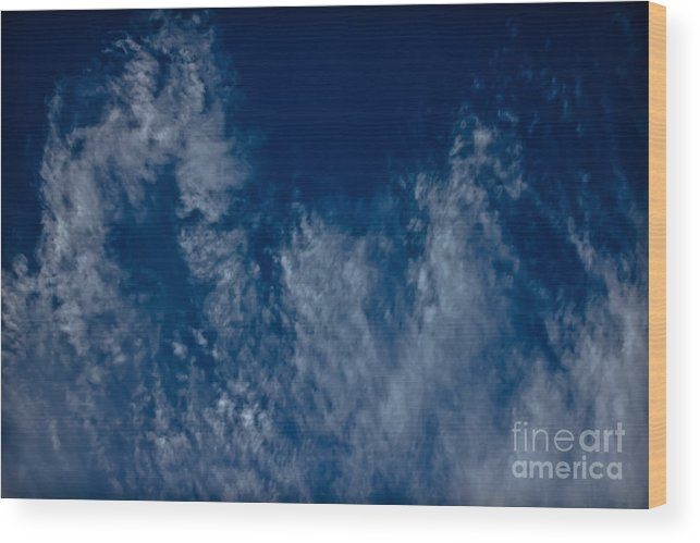 Clouds Wood Print featuring the photograph Living Sky by Joel Loftus