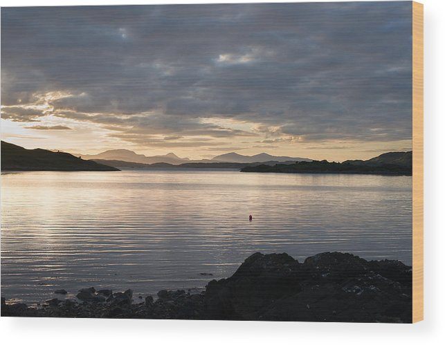 Lunga Bay Wood Print featuring the photograph Loch Melfort by Tristan C