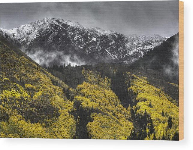 Landscape Wood Print featuring the photograph Lofty Ambition by Bill Sherrell