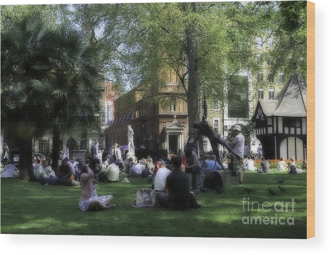 Lifestyle Wood Print featuring the photograph London Park by Andres LaBrada