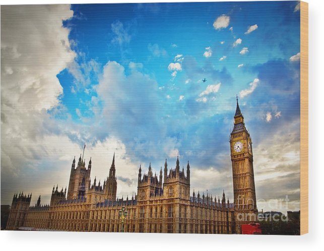 London Wood Print featuring the photograph London Uk Big Ben The Palace Of Westminster by Michal Bednarek