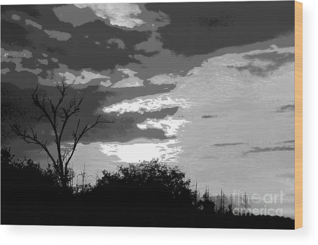 Ron Tackett Wood Print featuring the photograph Lord Dead by Ron Tackett