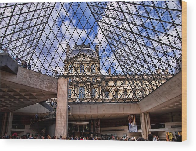 France Wood Print featuring the photograph Louvre Museum Paris France by Jon Berghoff