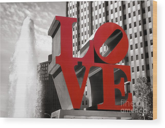 Love Wood Print featuring the photograph Love by Olivier Le Queinec