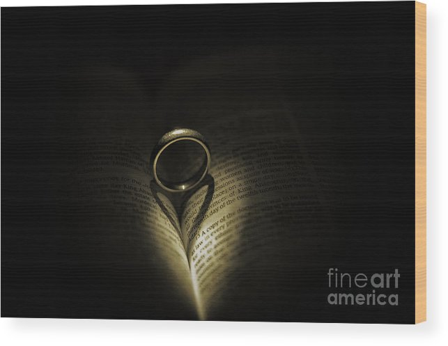 Bible Wood Print featuring the photograph Love The Lord by Luther Barnett