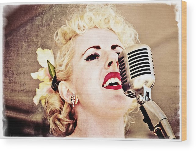Music Wood Print featuring the photograph Lovely Leah by Mike Martin