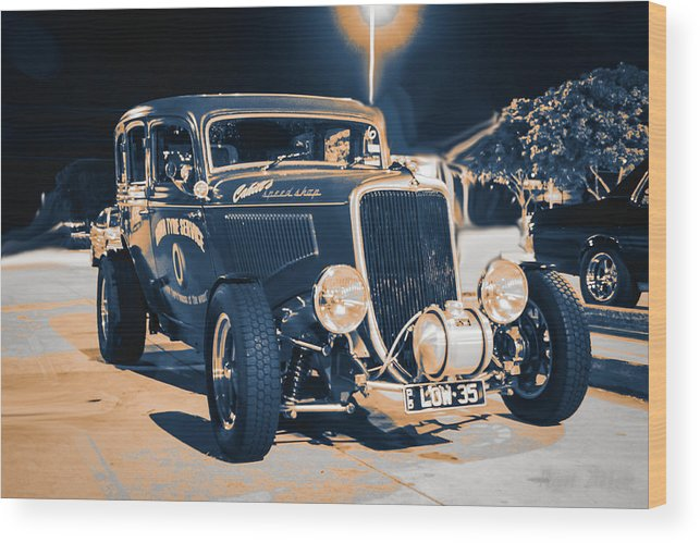 34 Wood Print featuring the photograph Low 35 by Michael Podesta