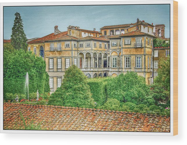 Mansion Wood Print featuring the photograph Lucca 03 by Will Wagner