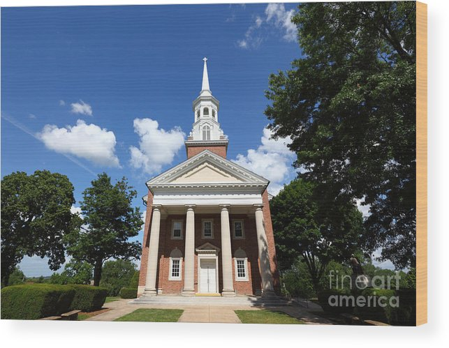 Gettysburg Wood Print featuring the photograph Lutheran Seminary Chapel Gettysburg by James Brunker
