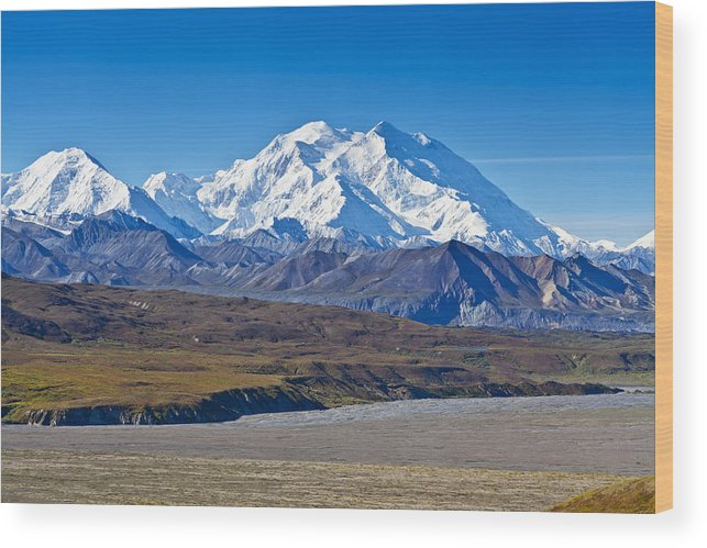 Denali Wood Print featuring the photograph Magnificent Denali by Chandru Murugan