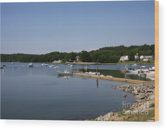 Maine Wood Print featuring the photograph Maine Seascape by Christiane Schulze Art And Photography