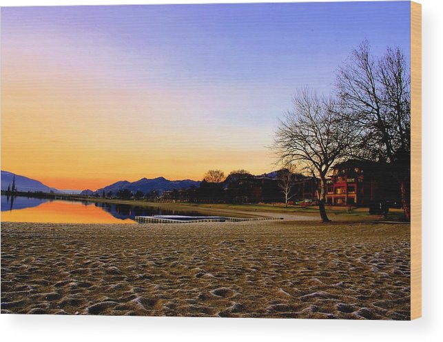 March Wood Print featuring the photograph March Morning Osoyoos by John Greaves