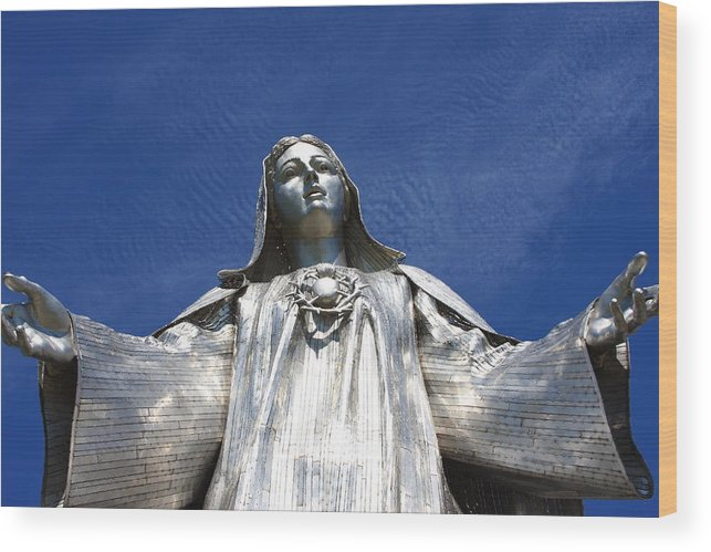 Virgin Mary Wood Print featuring the photograph Mary by Andrew Romer