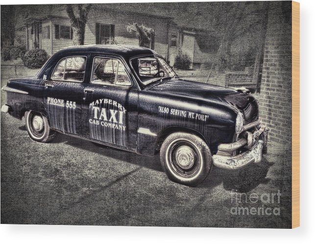 Andy Griffith Wood Print featuring the photograph Mayberry Taxi by David Arment