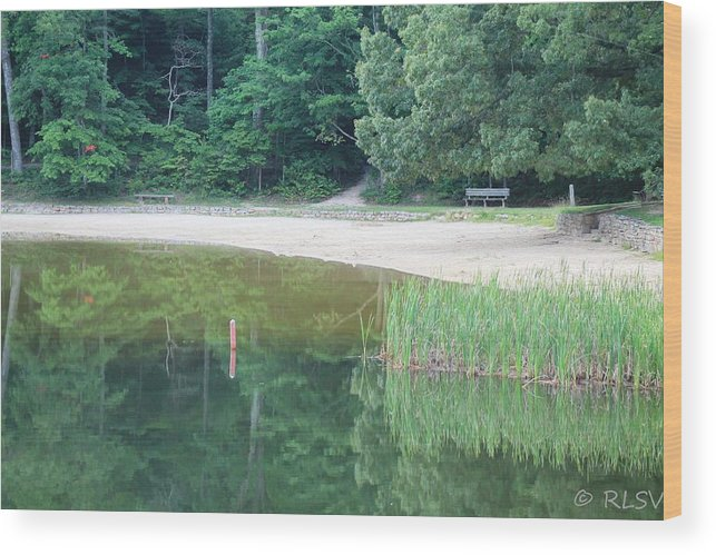 Reflections Wood Print featuring the photograph Mckamey Beach by Robin Vargo