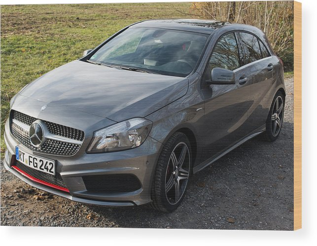 Mercedes Wood Print featuring the photograph Mercedes A-class 250 Amg Sport by Frank Gaertner