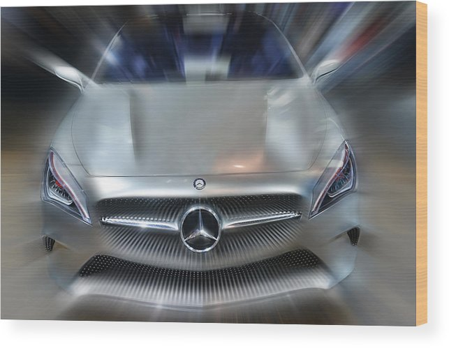 Cars Wood Print featuring the photograph Mercedes Concept 2013 by Dragan Kudjerski