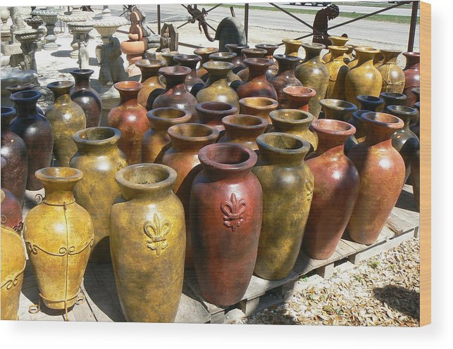 Pots Wood Print featuring the photograph Mexican Pots I by Scott Alcorn