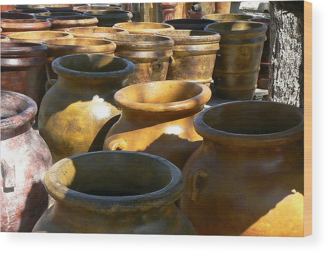 Pots Wood Print featuring the photograph Mexican Pots Iv by Scott Alcorn