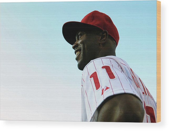 Citizens Bank Park Wood Print featuring the photograph Miami Marlins V Philadelphia Phillies by Drew Hallowell
