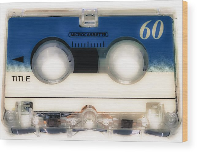 Cassette Wood Print featuring the photograph Micro Cassette 60 by Carlos Negron