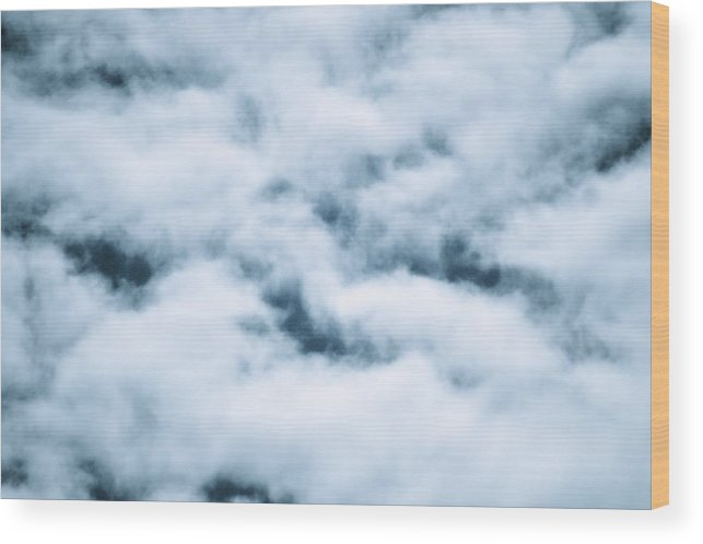 Enhanced Wood Print featuring the photograph Midnight Clouds by Sheldon Blackwell